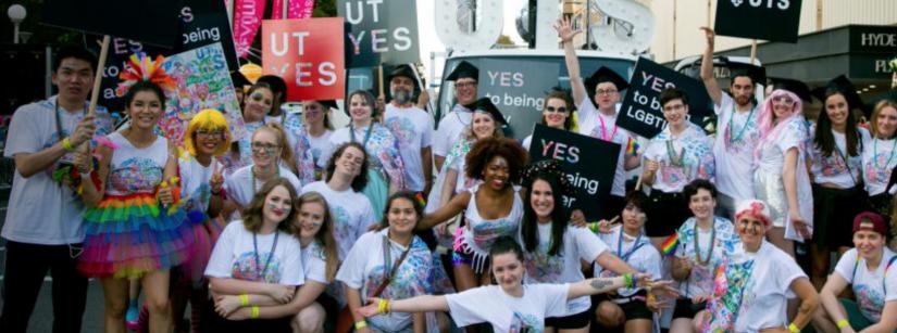 UTS students at Mardi Gras 2018
