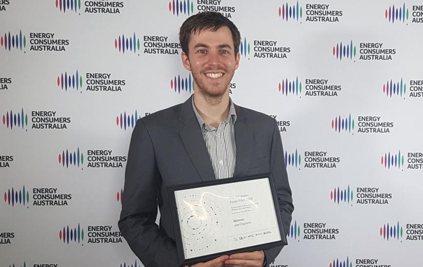 Gill Owen Essay Prize winner Joel Dignam