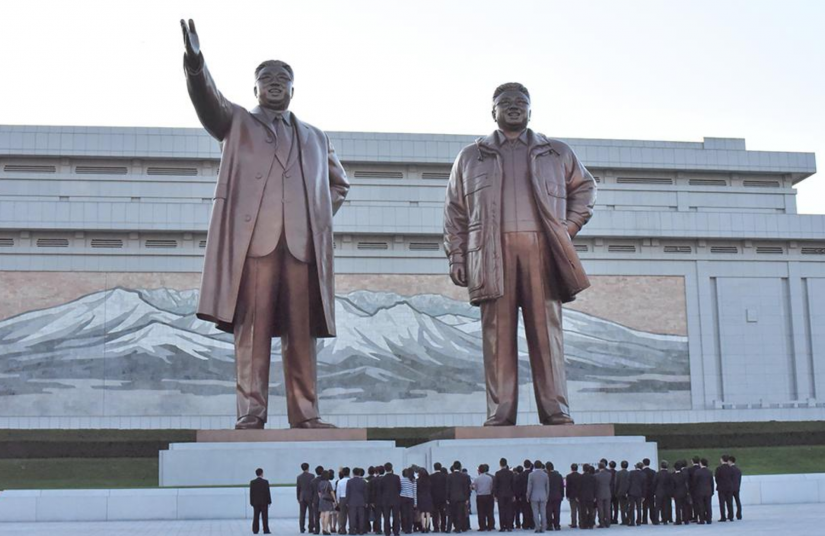 Monuments to Kim Il-sung and Kim Jong-il