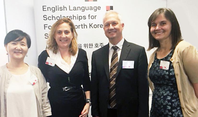 Dr Kyungja Jung, Dr Bronwen Dalton, Alex Murphy and Nancy Gordon.
