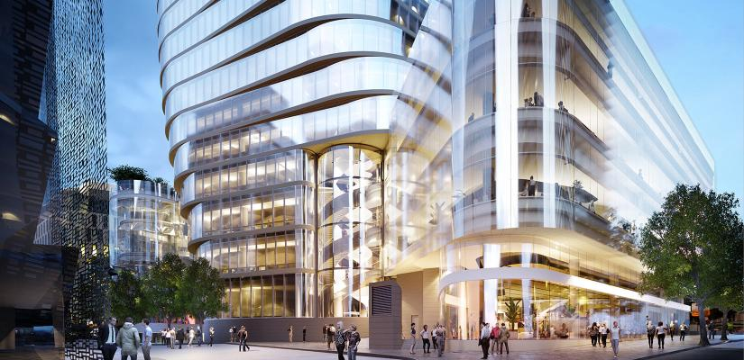 Artist's impression of UTS Central looking towards the Jones St entry