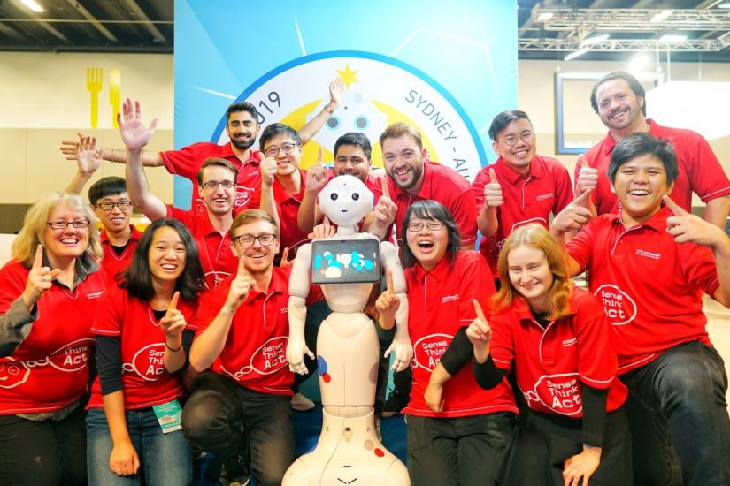 UTS Unleashed! team celebrates a golden finish at RoboCup.