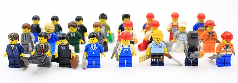 lego minifigs representing varied workforce
