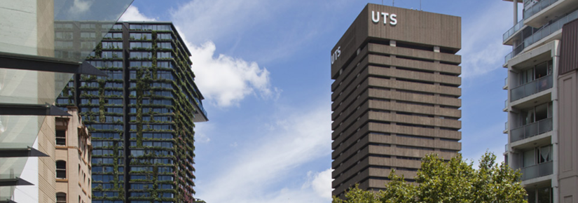 The UTS Tower, looking along Broadway. Photo by Andrew Worssam