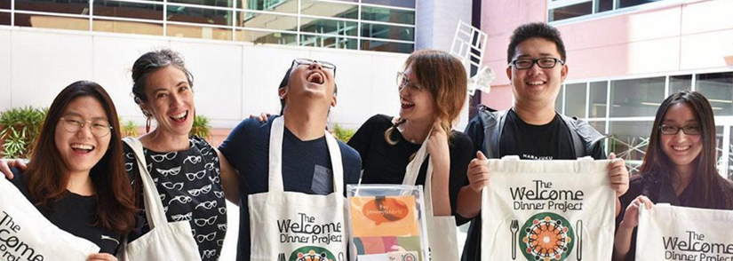 UTS: Shopfront has facilitated more than 1000 successful community projects. Last year design students worked with Joining the Dots to design the participant guide for its Welcome Dinner Project for migrants. Picture by Peta Gilbert