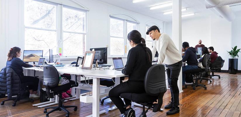 Entrepreneurs at work in Building 16