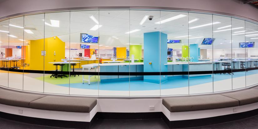 The colourful Hive superlab in UTS Central.