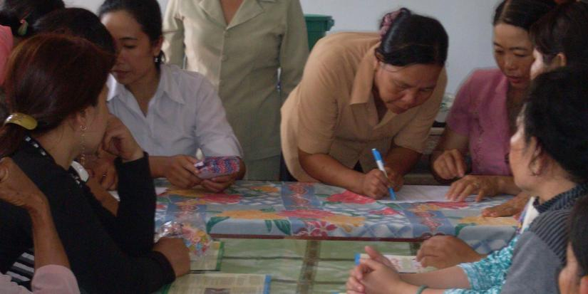 In an effort to 'leave no one behind', women from the Mekong receive a rebate on their toilet purchases through East Meets West Foundation, Viet Nam