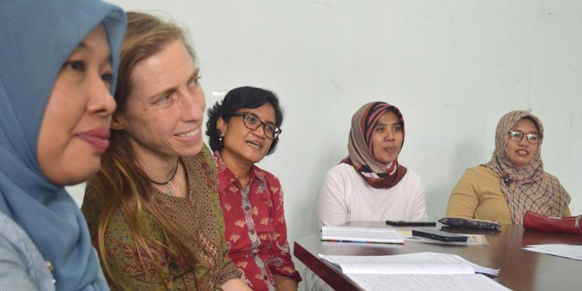Professor Willetts working with research partners on issues relating to gender equality in the water and sanitation workforce, Indonesia.