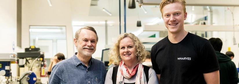 Roger Hadgraft, Justine Lawson and Scott McKeon.