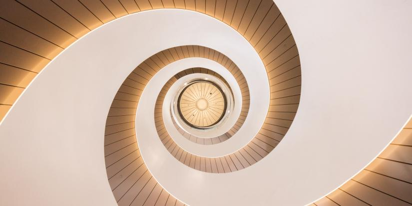 The double helix staircase in UTS Central.