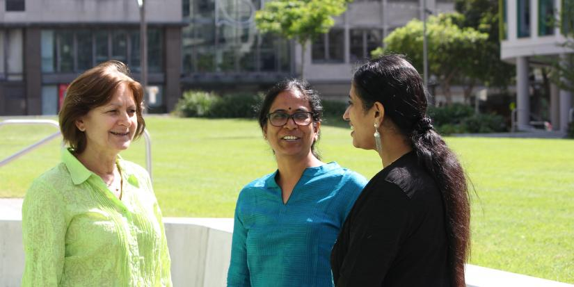Dr Rekha Pappu from Tata Institute of Social Sciences Hyderabad,and Dr Meera Varadharajan and Associate Professor Nina Burridge from UTS