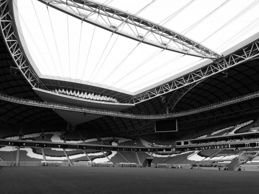 Interior view of the Al Wakrah Qatar World Cup Stadium