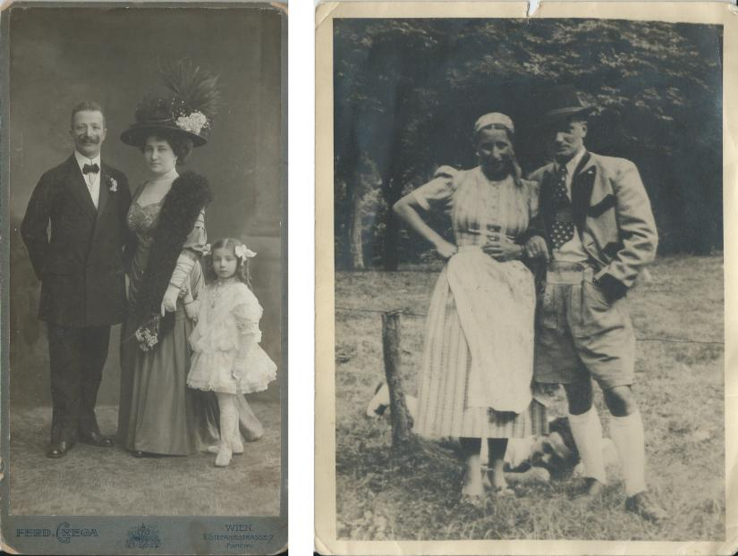 Early 20th century portraits of families