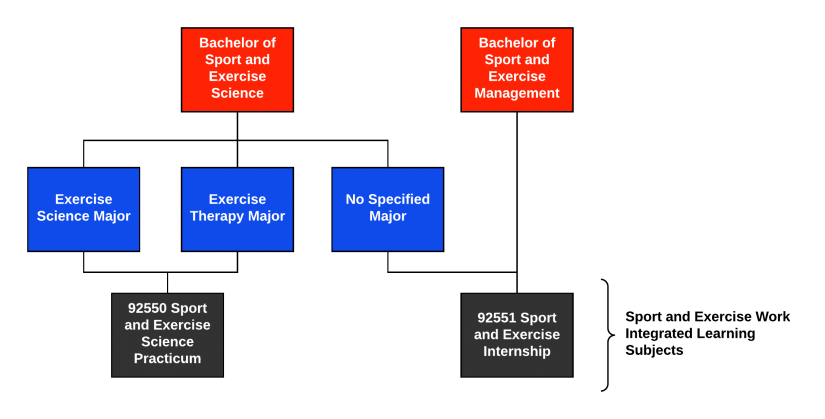 Chart of work intergrated learning subjects as described above.