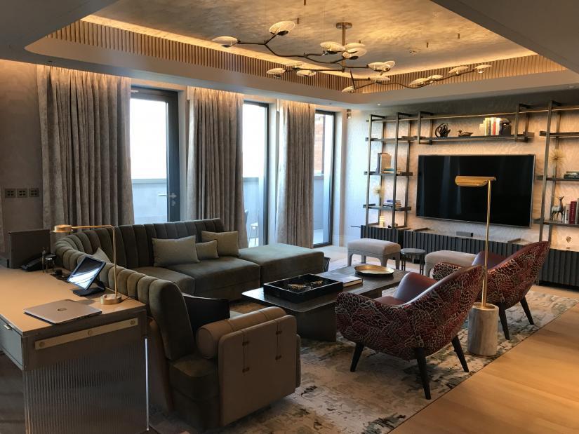Interior of the Mandarin Oriental Hotel