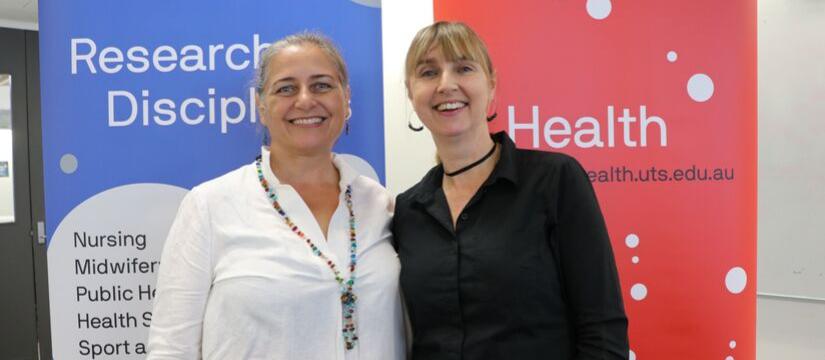 Annette Bennett (left) and Professor Angela Dawson (right)