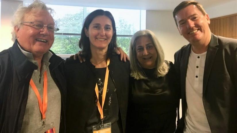 Left to right: Professor Stewart Clegg, Dr Natalia Nikolova, Dr Sumati Ahuja and Professor Peter Fleming at the awards ceremony