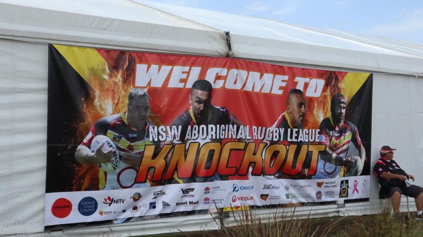 Knockout welcome sign Tuggerah Sports Complex