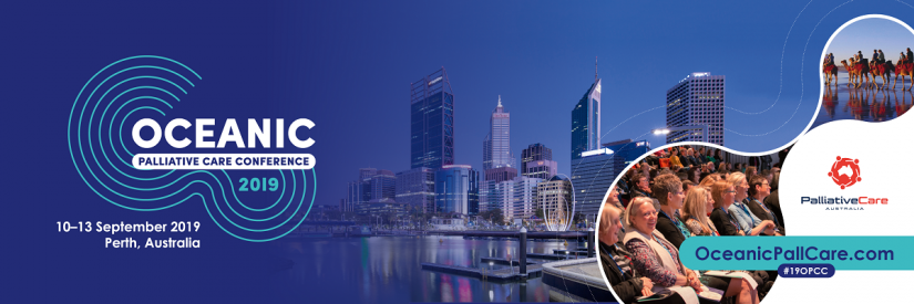 OPCC 2019 banner with Perth city-scape and conference logo