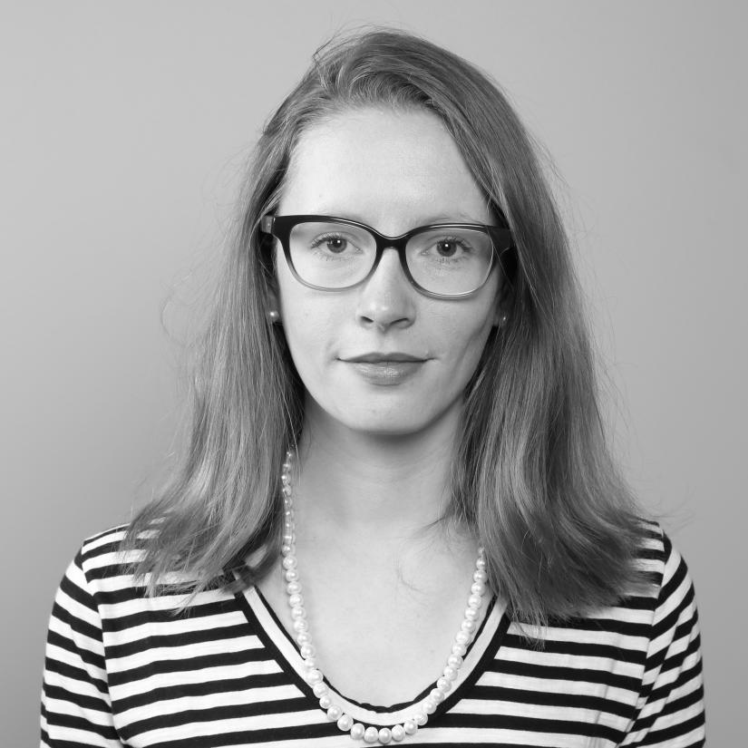 Black and white portrait of UTS PhD candidate Catriona Fisk
