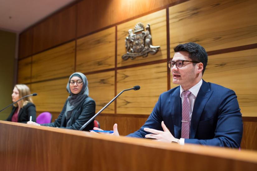UTS Law students in moot courts