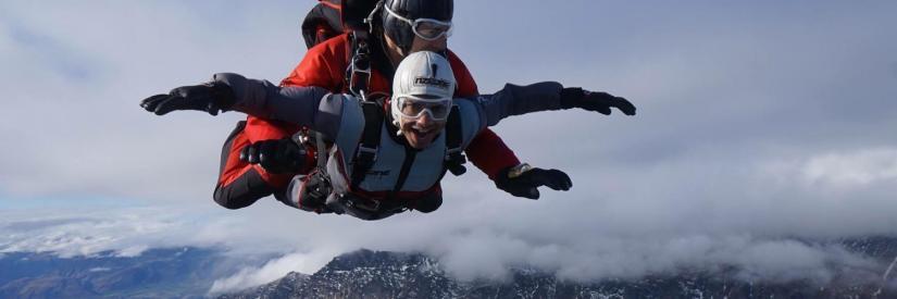 Image of Akash tandem skydiving