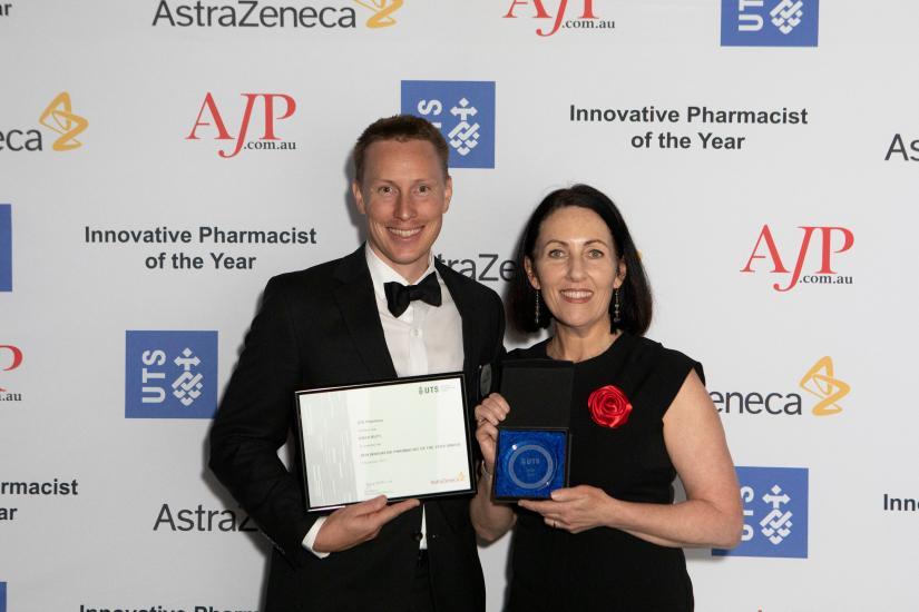 Pharmacist of the Year winner receiving prize at gala dinner