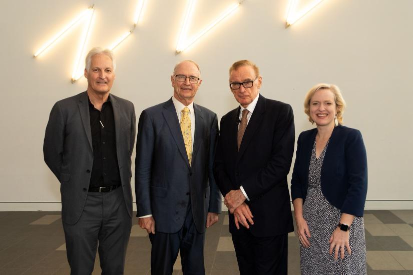 Stuart White, Ross Garnaut, Bob Carr and Verity Firth