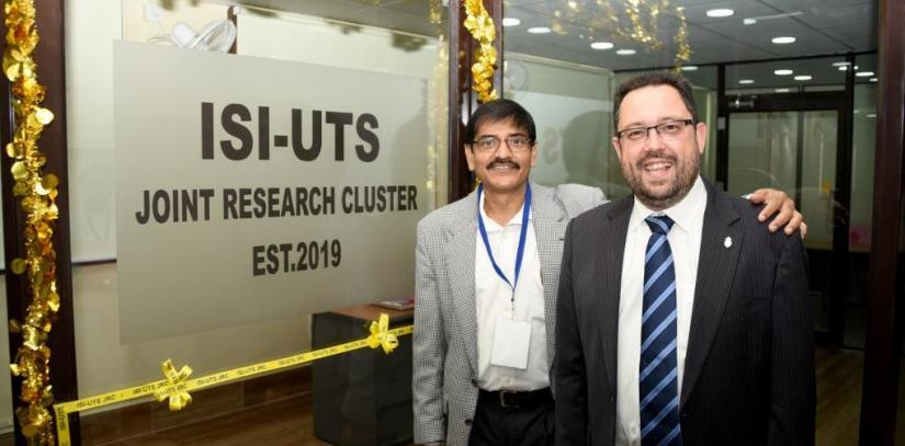 ISI and UTS joint research cluster co-directors at opening