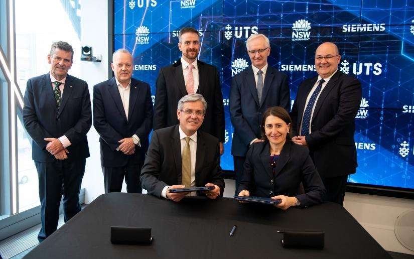 The New South Wales Premier joins the UTS Vice-Chancellor, Siemens CEO and others to celebrate the partnership.