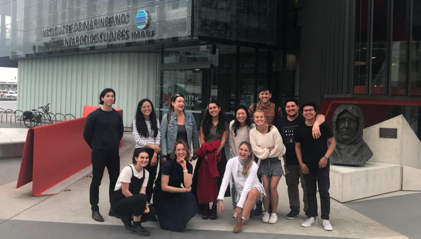 UTS Master of Architecture students outside IMAS