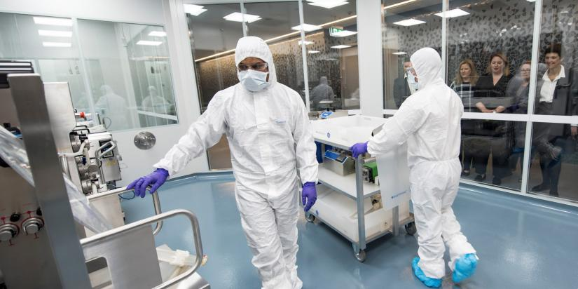 Researchers at the Biologics Innovation Facility
