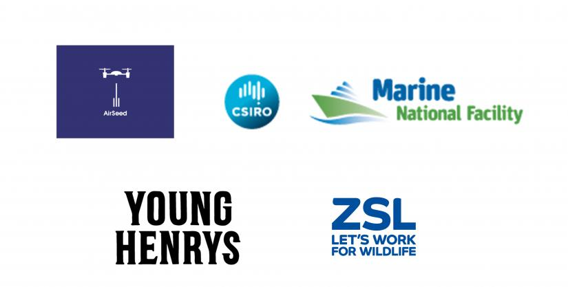 Airseed, CSIRO, Marine National Facility, Young Henrys and ZSL.