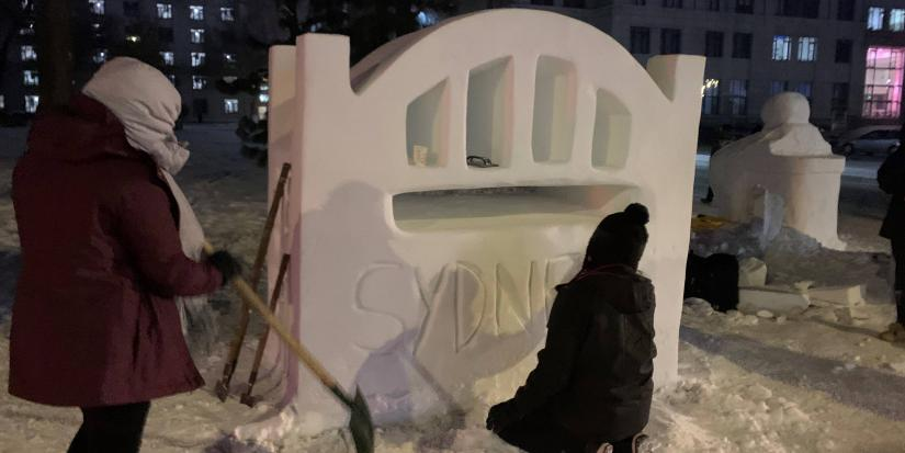 UTS students at Harbin Engineering University Snow Sculpture Competition