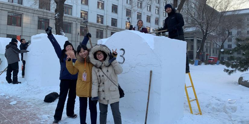 UTS students at Harbin International University Snow Sculpture Competition