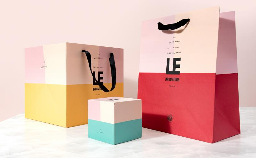 Vibrant patissier boxes in Drugstore branding by Design&Practice