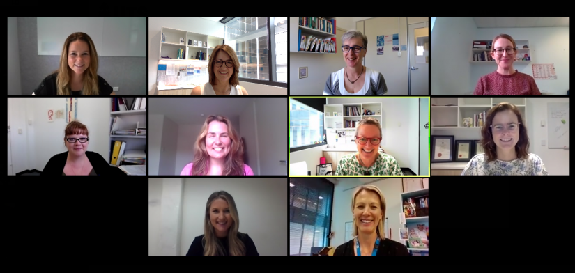 Screenshot of genetic counsellors on video chat