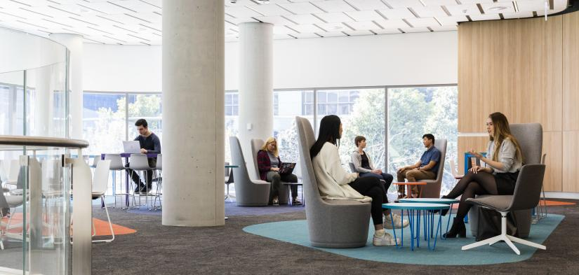 Image of students studying in Building 2