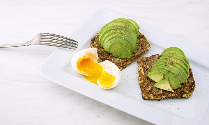 Egg with avocado on toast