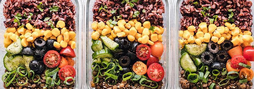 Health food on platter