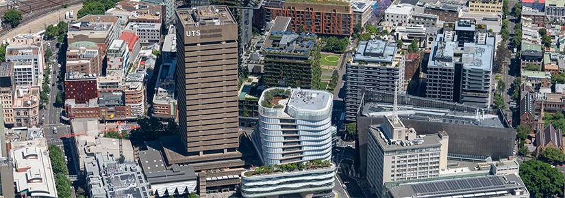 Aerial view of the UTS campus
