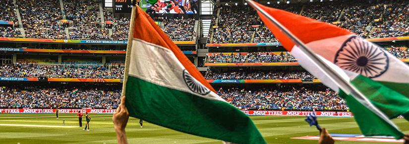 Indian fans at the MCG