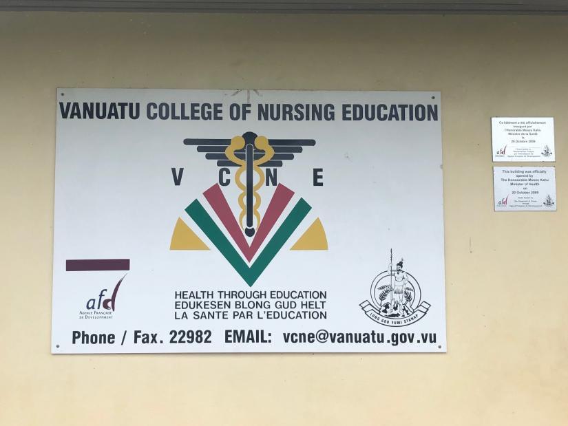 Vanuatu College of Nursing Sign