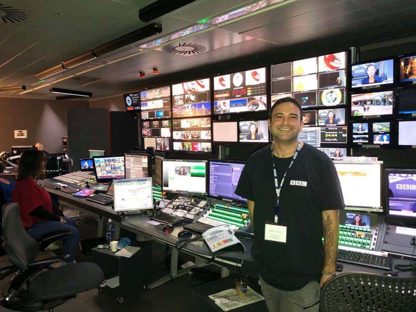 UTS FASS media production graduate Seref Isler BBC World News newsroom
