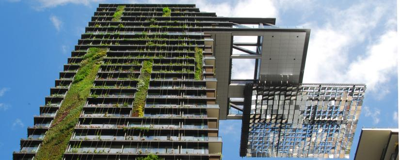 Close up of the Central Park tower block