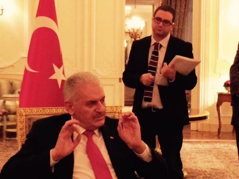 Seref Isler producing BBC World Service interview with Turkey's then Prime Minister Binali Yildirim