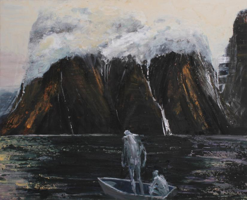 Euan Macleod's painting On Doubtful Sound