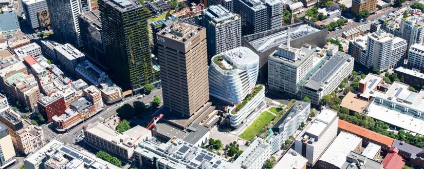 UTS campus aerial view