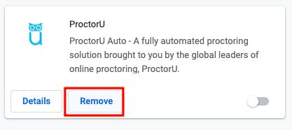 ProctorU screenshot